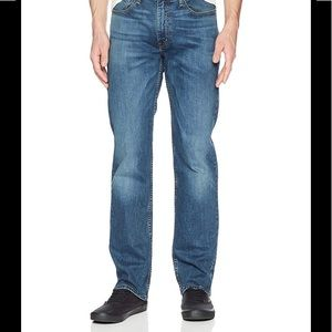 Men's Distressed 514 32Wx36L Midnight Jeans